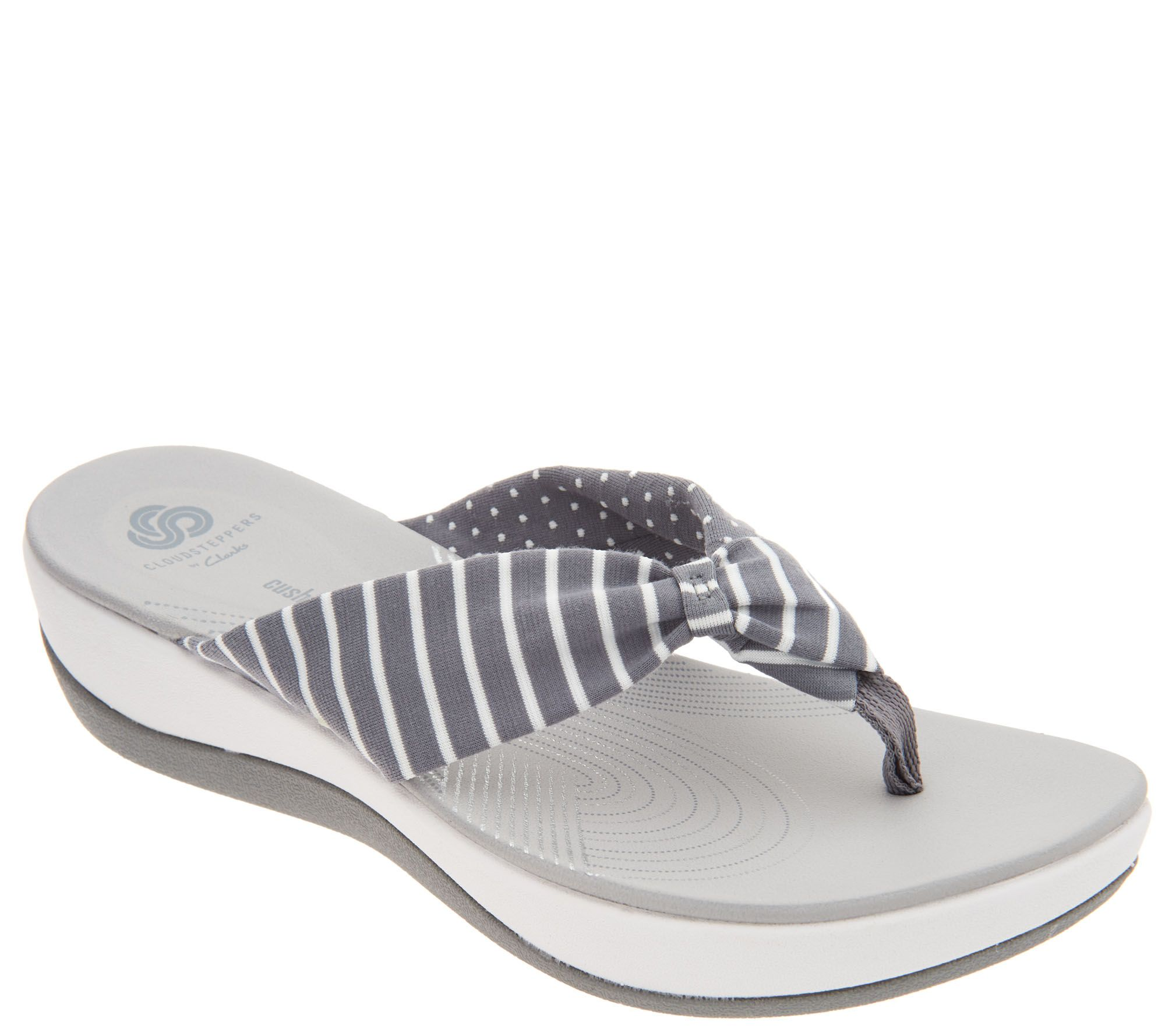 84e48958ef85 CLOUDSTEPPERS by Clarks Printed Thong Sandals - Arla Gilson - Page 1 —  QVC.com