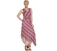 Studio by Denim & Co. Stripe V-Neck Sleeveless Dress - A344096