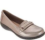 As Is Clarks Leather Slip-On Loafers- Ashland Lily - A351296