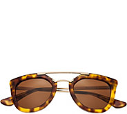 Bertha Ella Tortoise Sunglasses w/ Polarized Lenses - A361196
