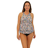 Fit 4 Ur Tummy Freebird Two-Tiered High-Neck Ba bydoll Top - A364796