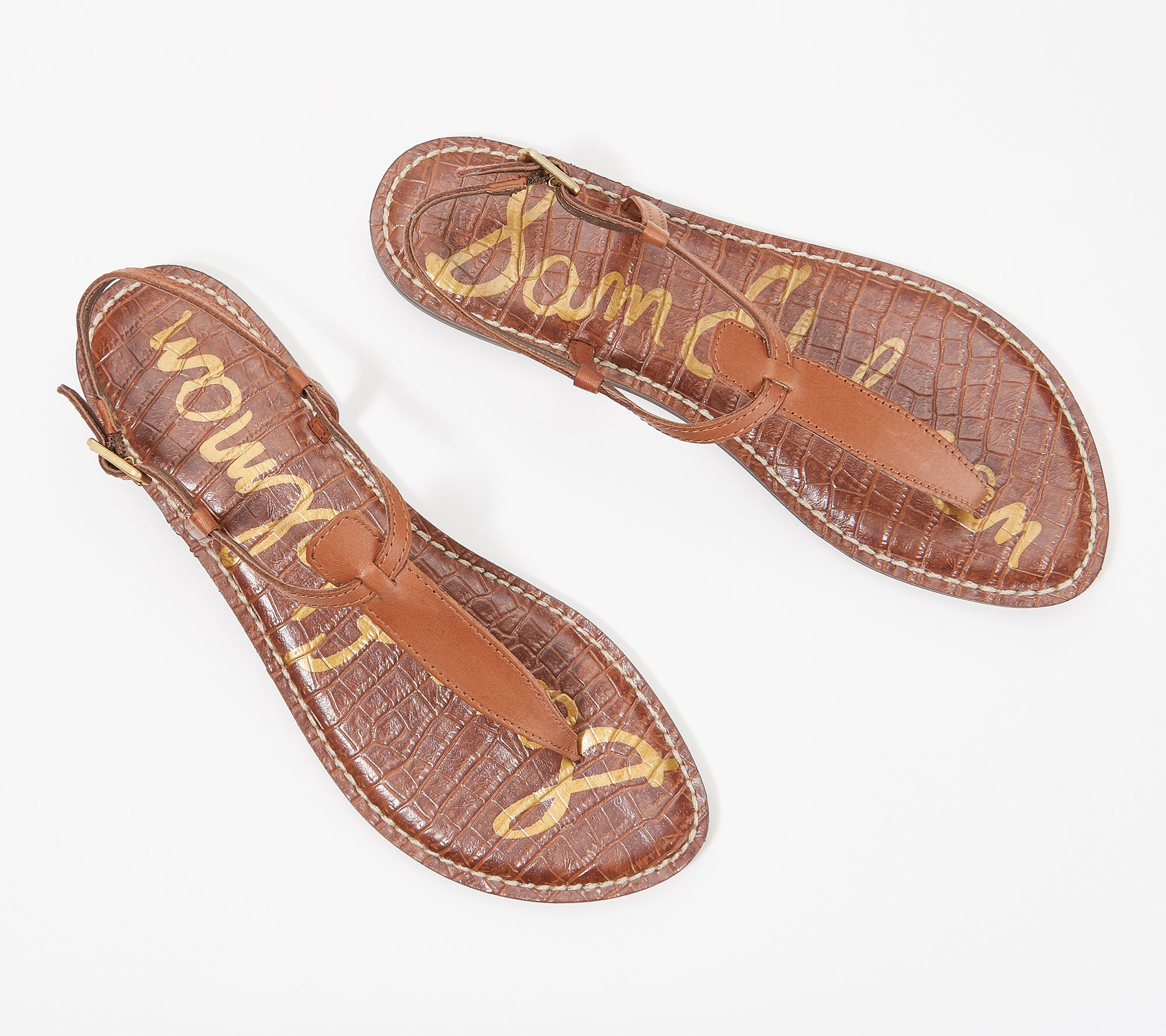6d21bdb17 Sam Edelman T-Strap Thong Sandals - Gigi - Page 1 — QVC.com