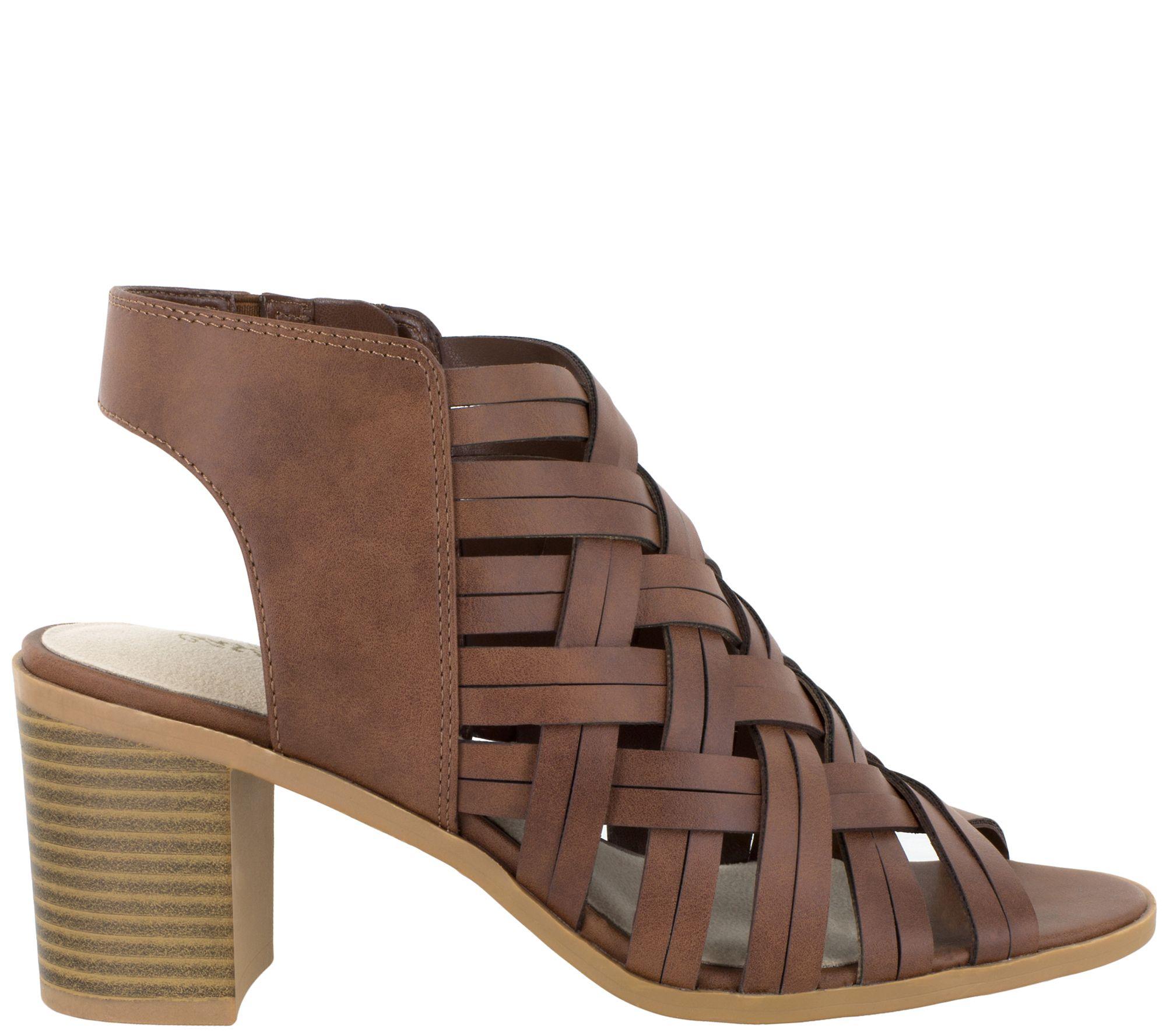 ccb252541 Easy Street Block Heel Sandals - Angel - Page 1 — QVC.com