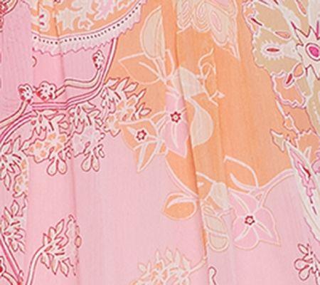 1eb4b629490 Susan Graver Crinkled Sheer Chiffon Printed Tunic with Knit Tank - Page 1 —  QVC.com