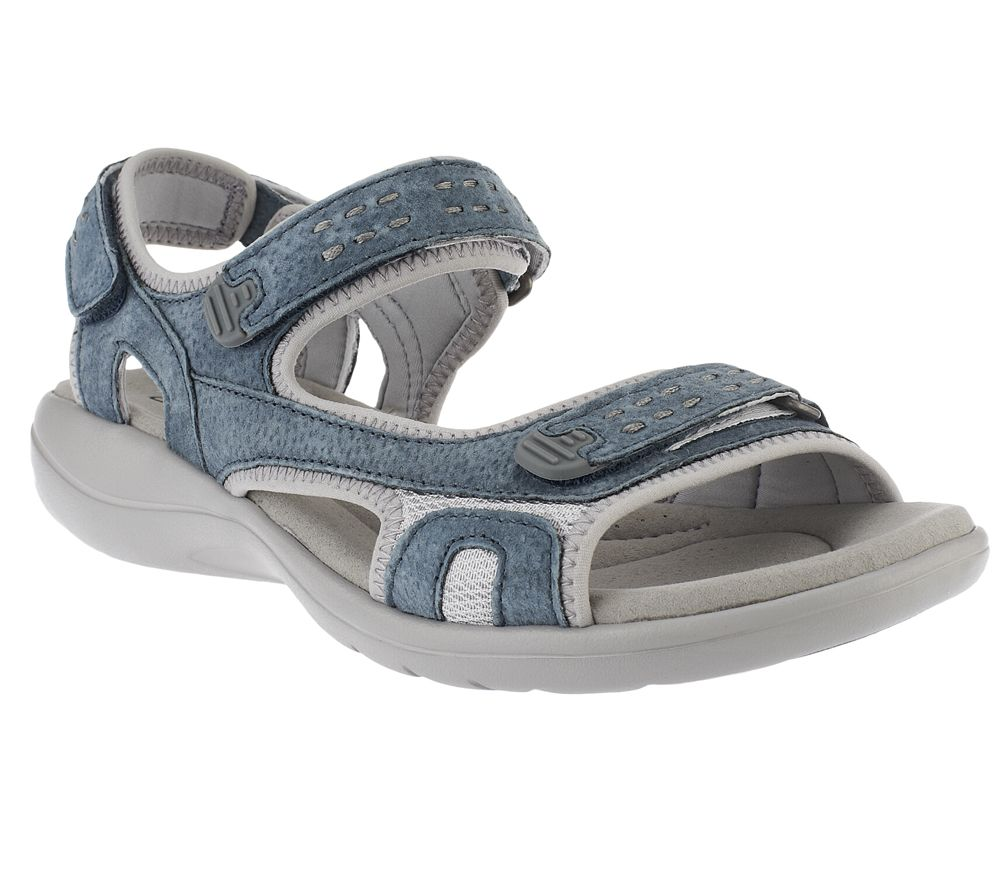 c88bcc423ee Clarks Leather Adjustable Sport Sandals - Morse Tour - Page 1 — QVC.com