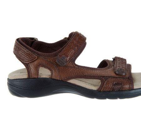0cd05c10e2c Clarks Leather Adjustable Sport Sandals - Morse Tour - Page 1 — QVC.com
