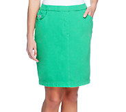 Quacker Factory DreamJeannes Pull-on Knit Skort - A251797