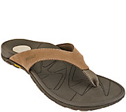 Vionic w/ Orthaheel Mens Orthotic Leather Thong Sandals - Bryce - A266297