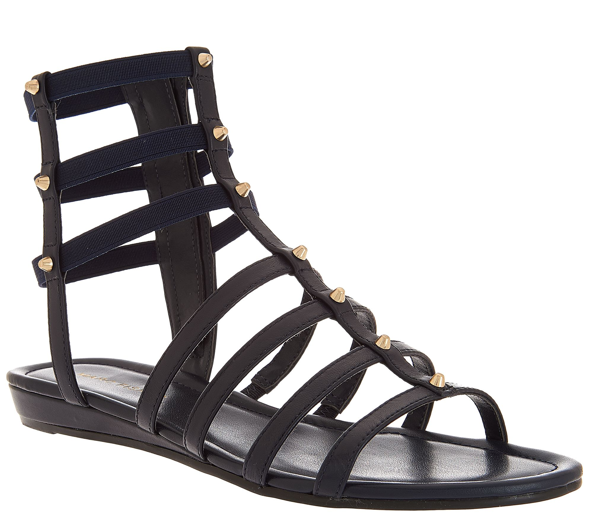 80e3e726f74 Marc Fisher Leather Gladiator Sandals w Studs - Pritty - Page 1 — QVC.com