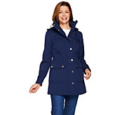Isaac Mizrahi Live! Softshell Anorak Jacket with Removable Hood - A286897