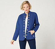 Quacker Factory DreamJeannes Glam Grommet Jacket - A287297
