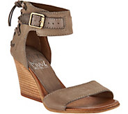 Miz Mooz Leather Wedges with Buckle and Tie Detail - Kiani - A290597