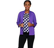 Bob Mackie Sequin Front Tank and Knit Cardigan Set - A290697