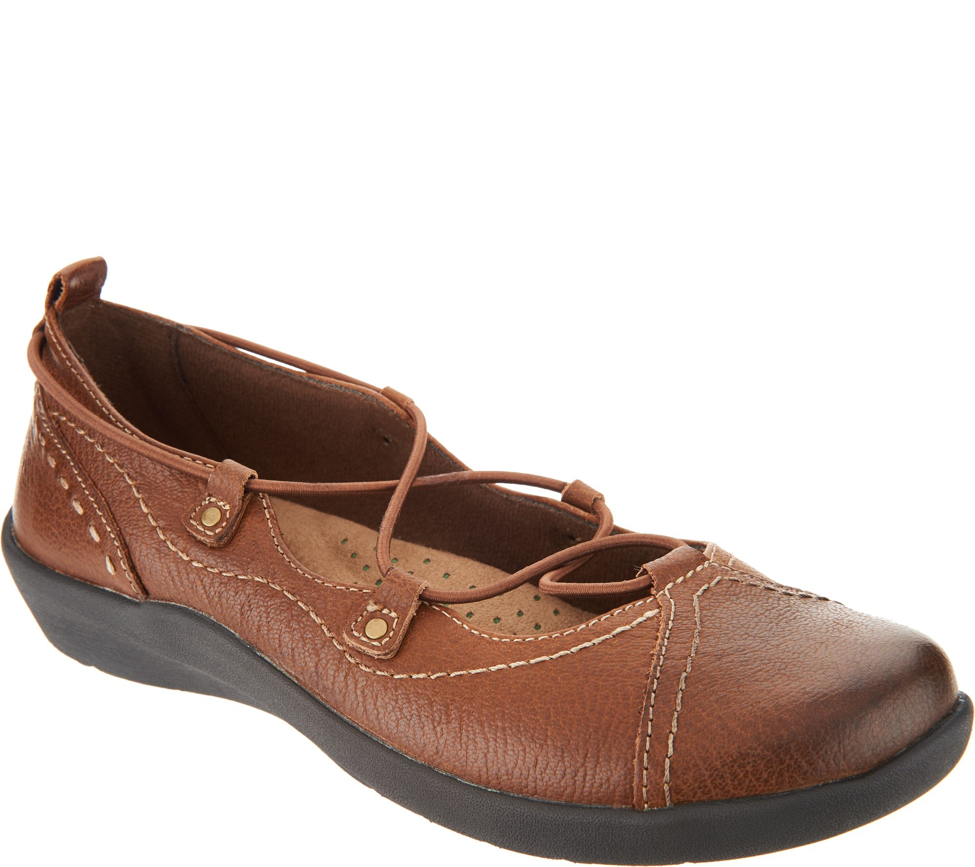 discount choice Earth Origins Leather Bungee Lace Slip-ons - London sale with mastercard 9iL6sygMVn