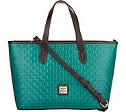 Dooney & Bourke Woven Embossed Leather Satchel -Brandy - A300497