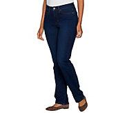 Martha Stewart Petite 5-Pocket Straight Leg Jeans - A301097