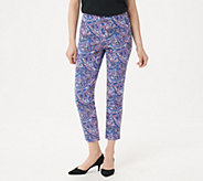 Isaac Mizrahi Live! Petite 24/7 Stretch Print or Solid Ankle Pants - A302697