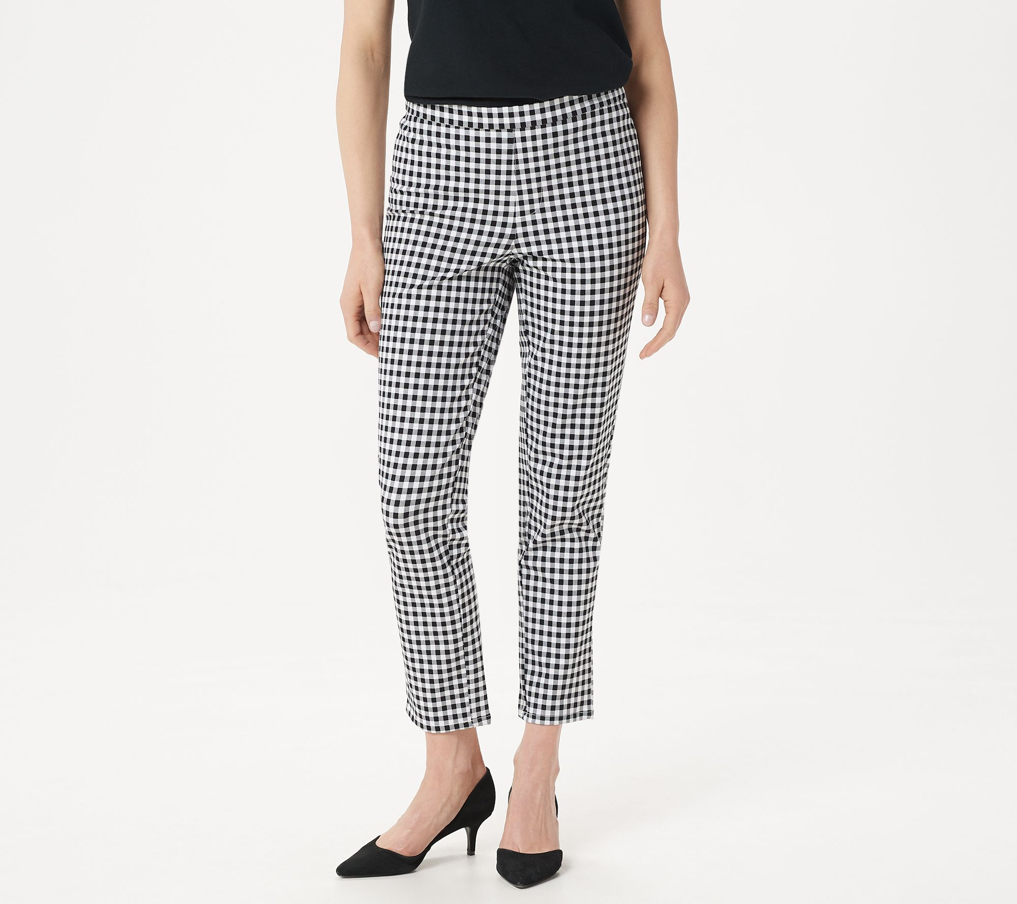 Isaac Mizrahi Petite 24//7 Stretch Ankle Pants Bright White 14P NEW A302697