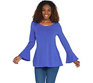 Isaac Mizrahi Live! Scoop Neck Tunic with Bell Sleeve Detail - A309997