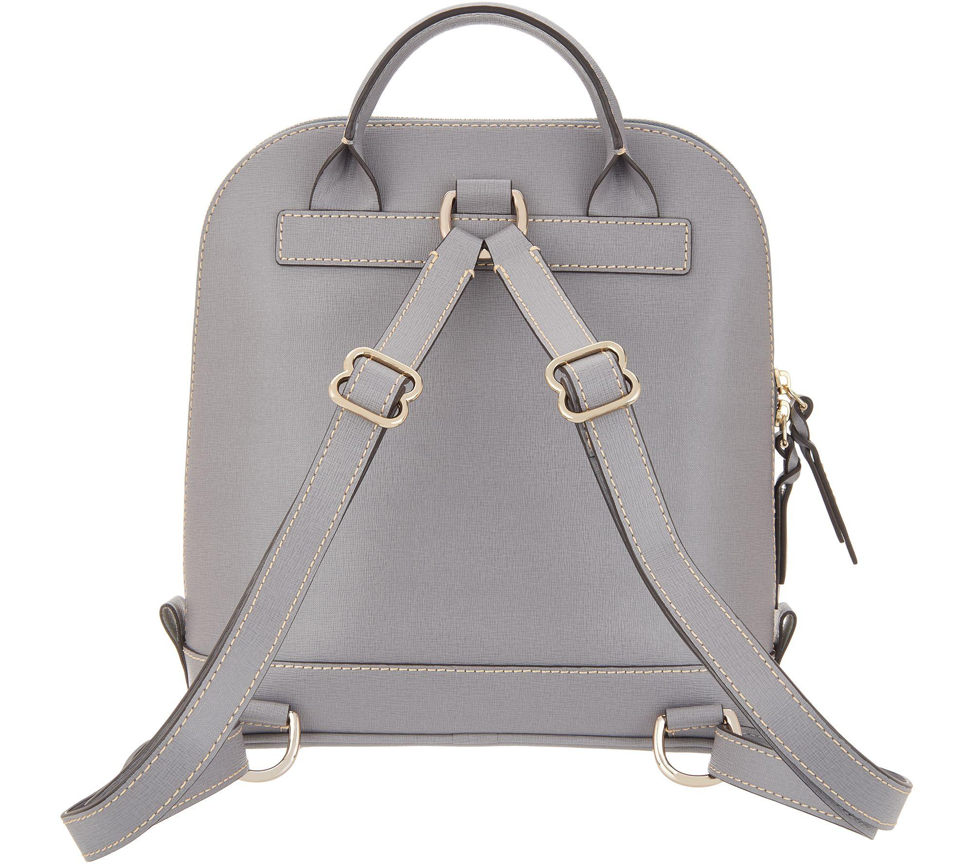 7af273d330 Dooney   Bourke Saffiano Leather Pod Backpack - Page 1 — QVC.com
