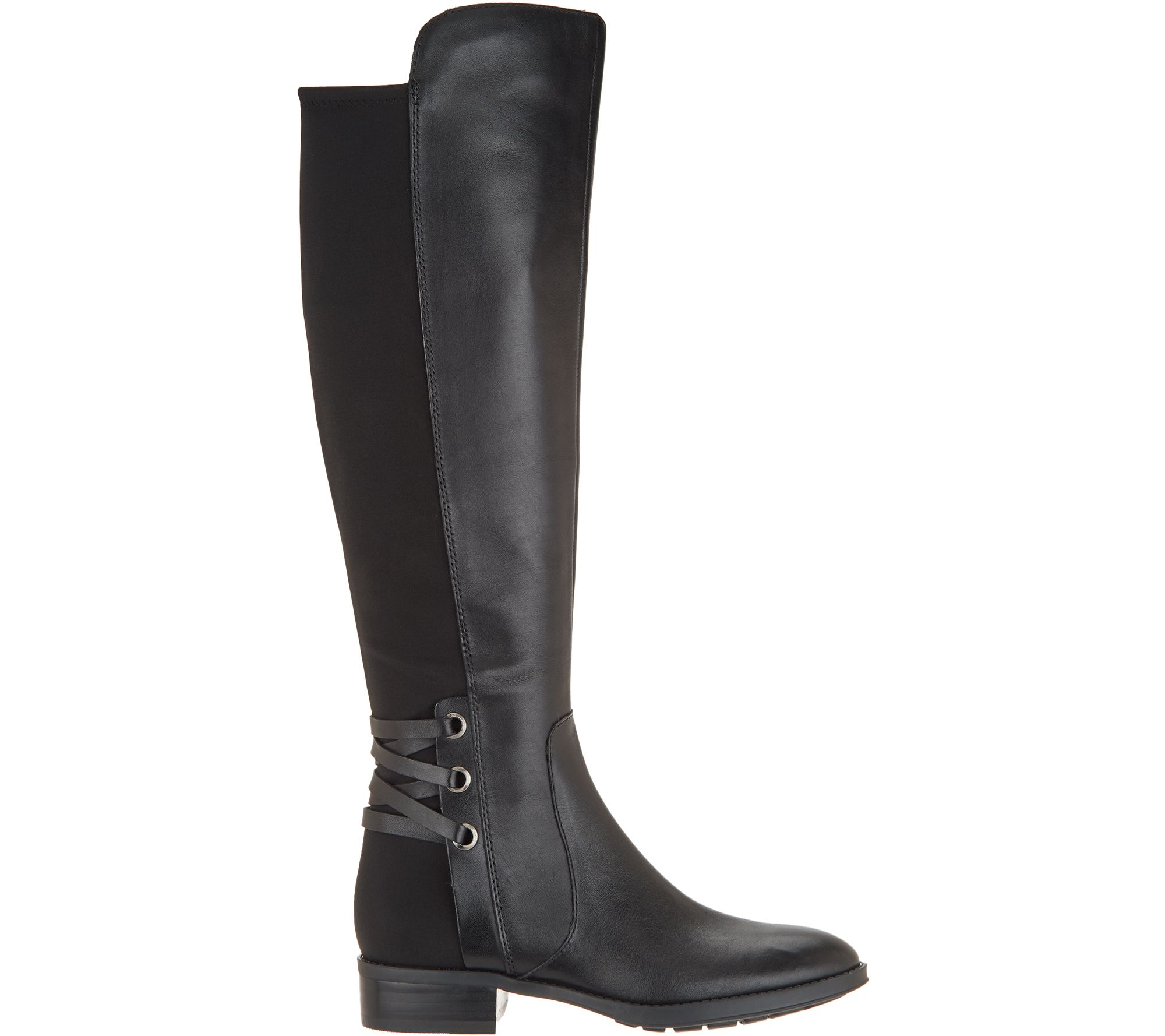 a18f7a819 Vince Camuto Medium Calf Leather / Suede Tall Shaft Boots- Pauletta - Page  1 — QVC.com