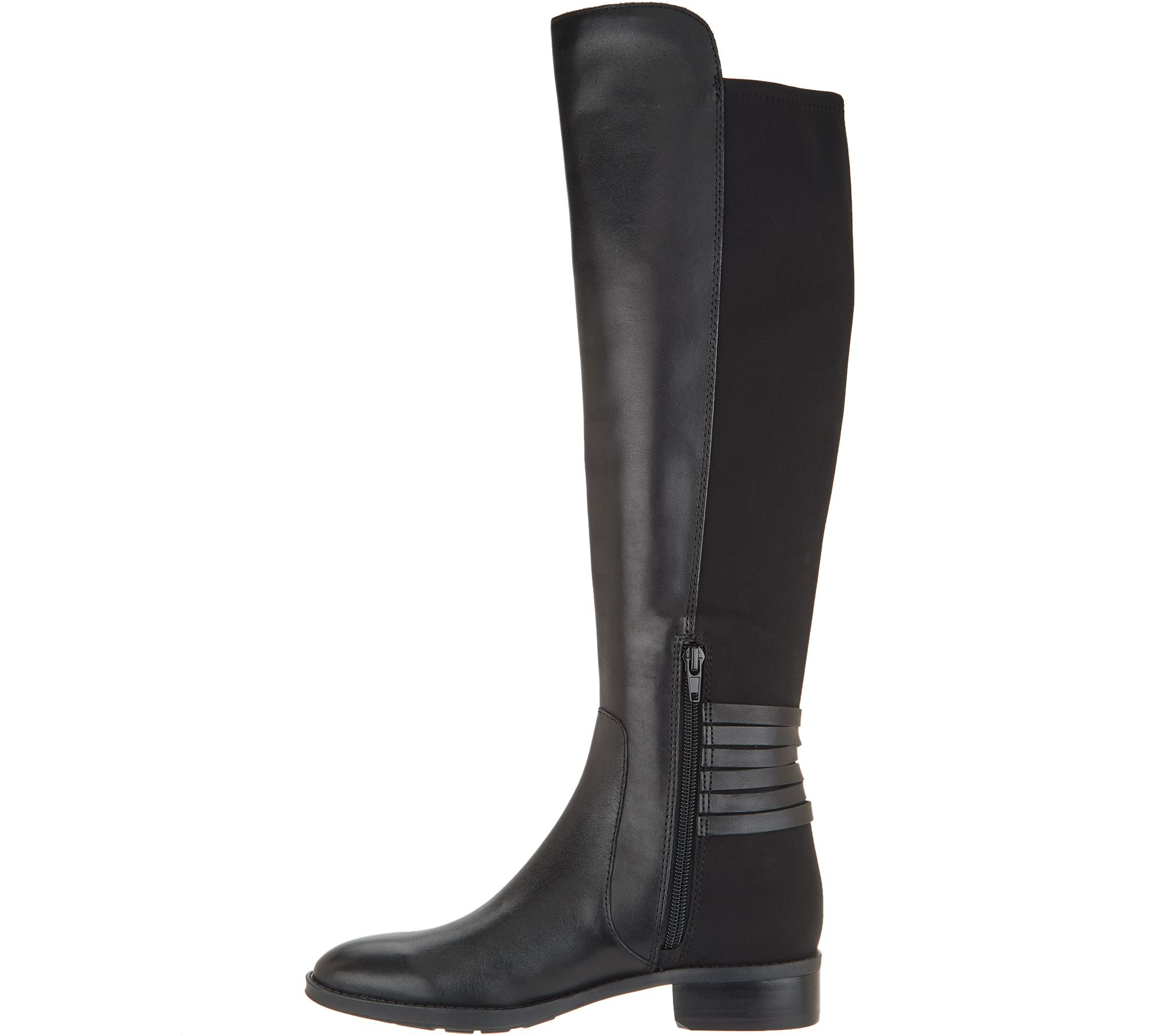 69fa0974137 Vince Camuto Medium Calf Leather   Suede Tall Shaft Boots- Pauletta - Page  1 — QVC.com