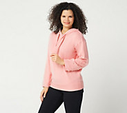 Attitudes by Renee Pearl Embellished Hoodie - A347297