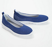 CLOUDSTEPPERS by Clarks Perforated Slip-On Shoes- Step Allena Sea - A350197