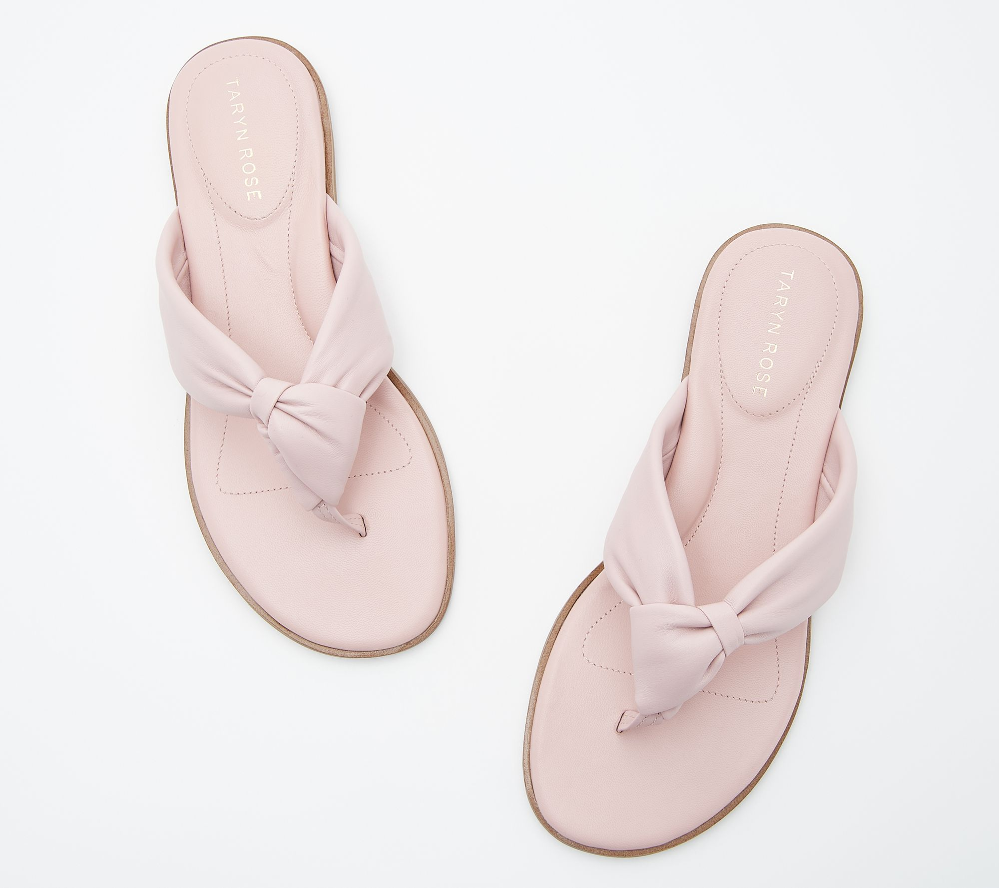 dabcee04342 Taryn Rose Leather Knotted Thong Sandals - Karissa - Page 1 — QVC.com