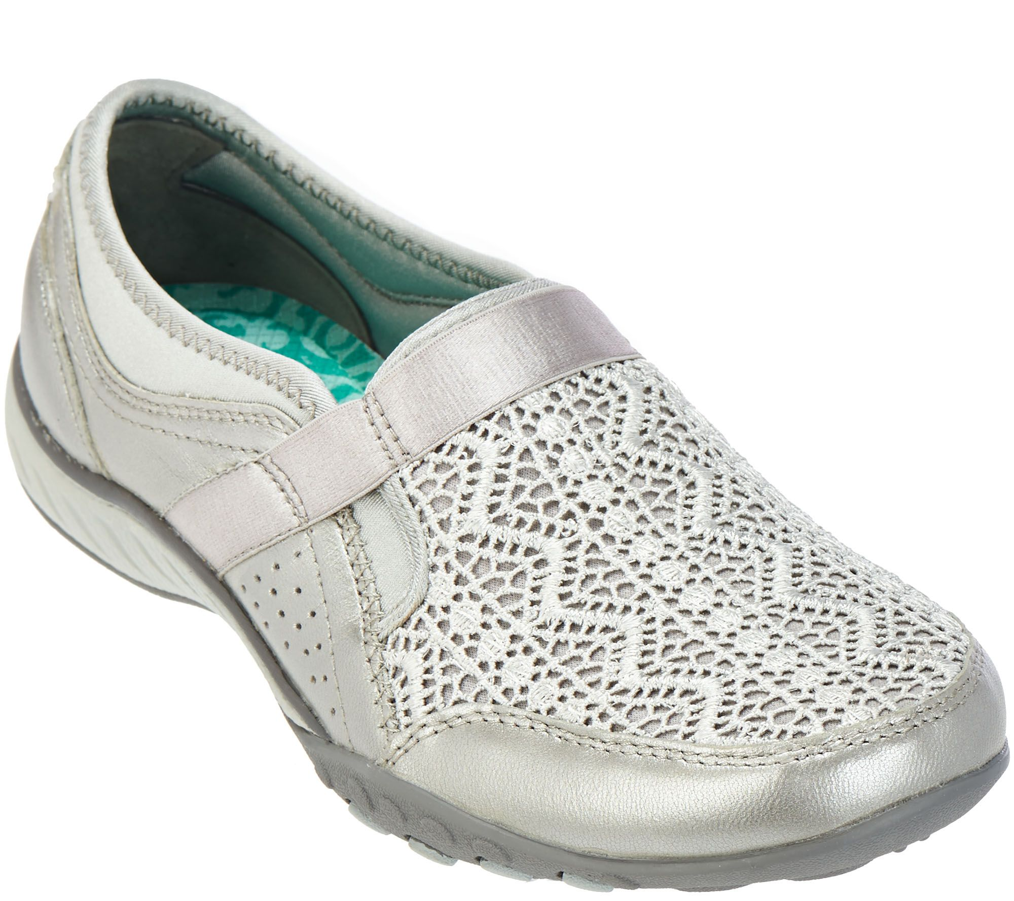 b3c0a3069178 Skechers Breathe-Easy Crochet Leather slip-ons - Clean Sweep - Page 1 —  QVC.com