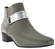 LOGO by Lori Goldstein Ankle Boots with Buckle Detail - A280998