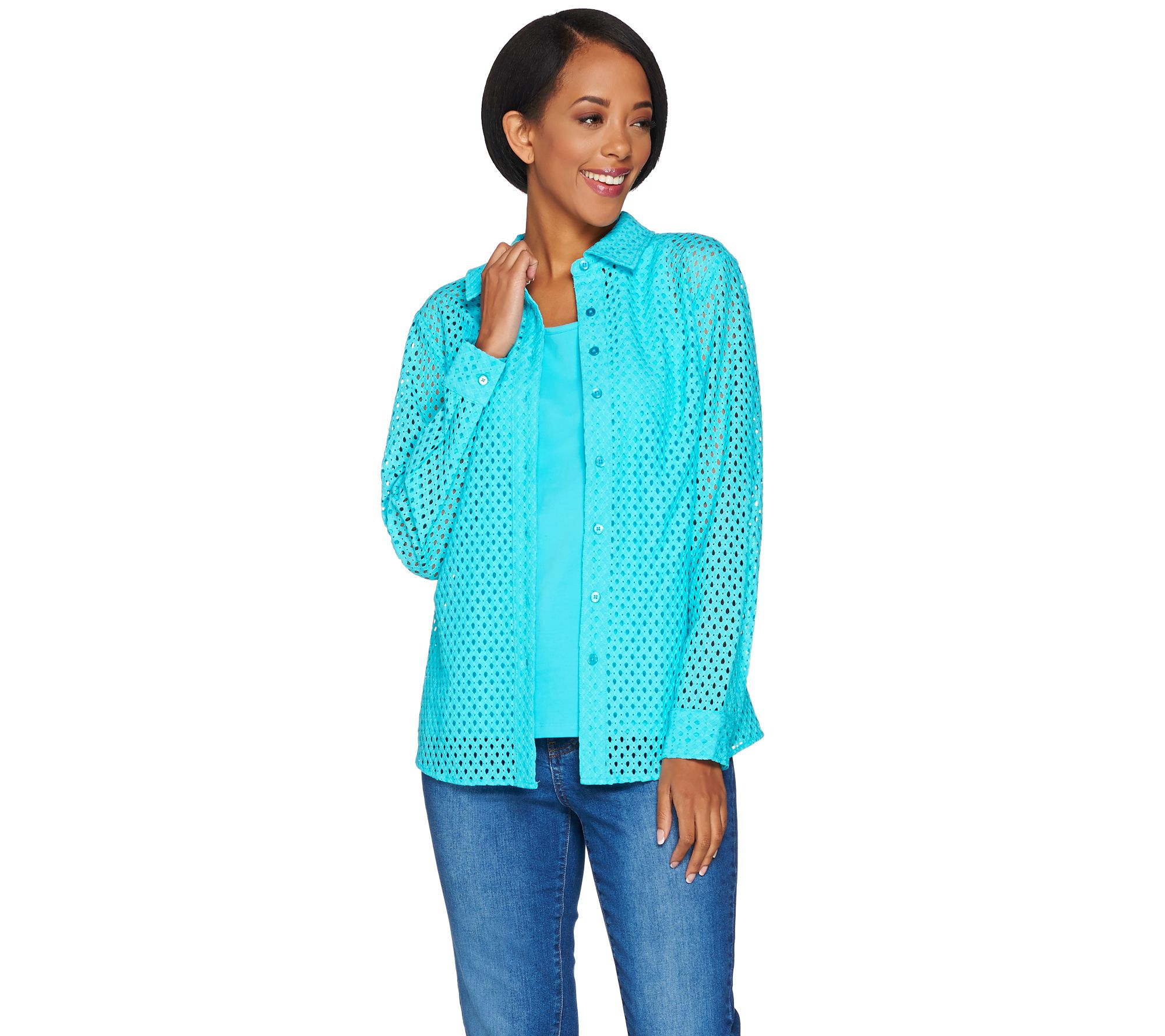 world-wide free shipping look out for the best Qvc Denim And Co Shirts - DREAMWORKS
