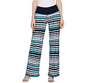 Women with Control Tall Tummy Control Pleat Printed Wide Leg Pants - A288798