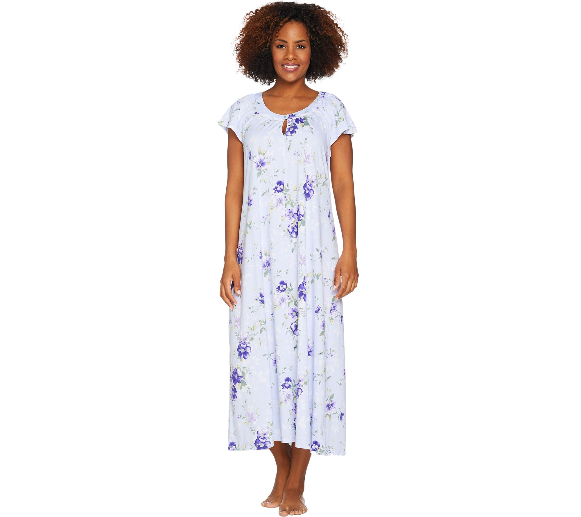 Carole Hochman Ultra Jersey Blooming Meadow Long Gown - Page 1 — QVC.com 39c34b800