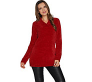 Susan Graver Modern Essentials Chenille V-Neck Sweater - A297698