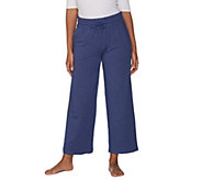 AnyBody Loungewear Cozy Knit French Terry Wide Ankle Pant - A302398