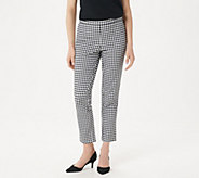 Isaac Mizrahi Live! Tall 24/7 Stretch Print or Solid Ankle Pants - A302698