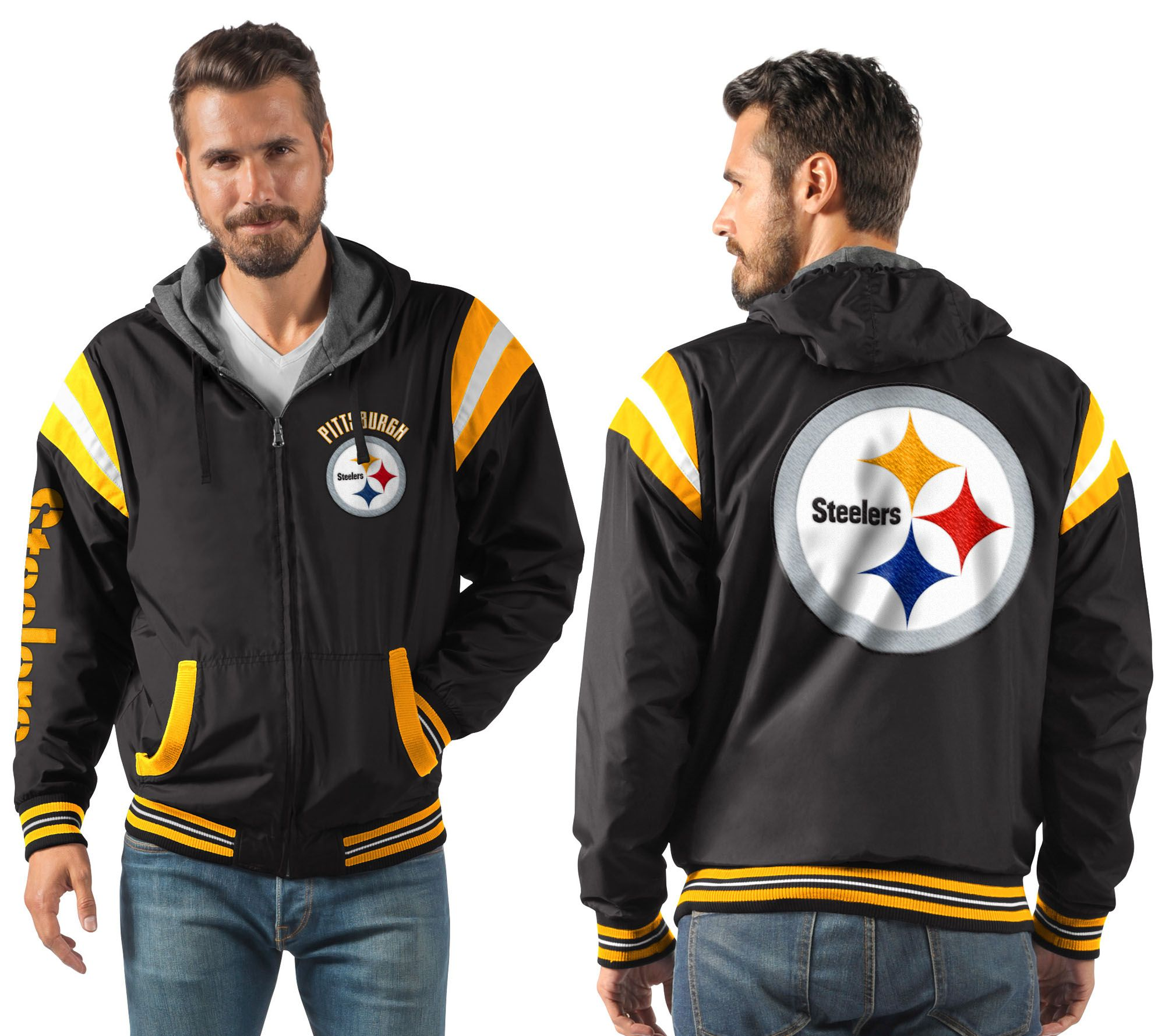 pick up d5d0f 17123 NFL Ultimate Fan Reversible Hooded Full Zip Jacket — QVC.com