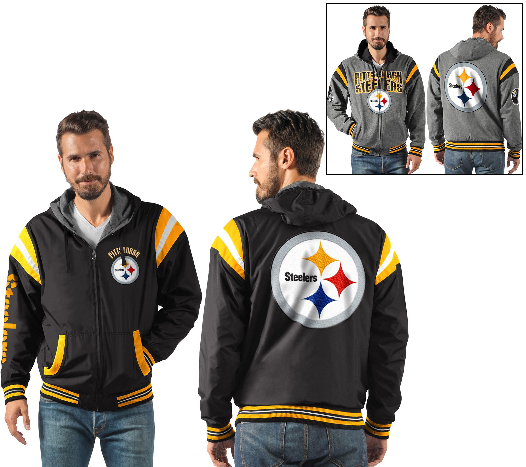 NFL Ultimate Fan Reversible Hooded Full Zip Jacket - Page 1 — QVC.com 479753c59