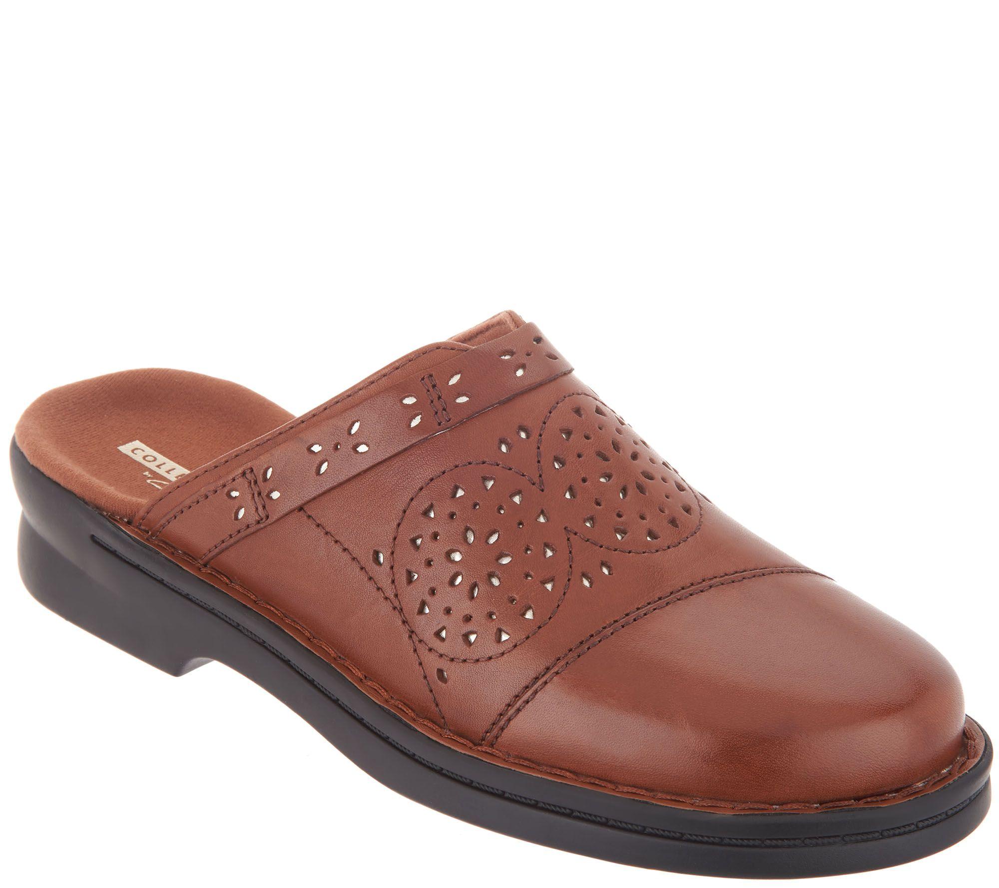 4ce72847df30f Clarks Collecton Leather Clogs - Patty Renata — QVC.com