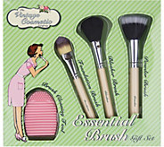 The Vintage Cosmetic Company 4-Piece Essential Brush Set - A362698