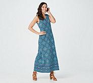 Joan Rivers Petite Alhambra Print V-Neck Maxi Dress - A378298