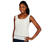 Kathleen Kirkwood Undercover Agent Lace Overlay Cami - A224299