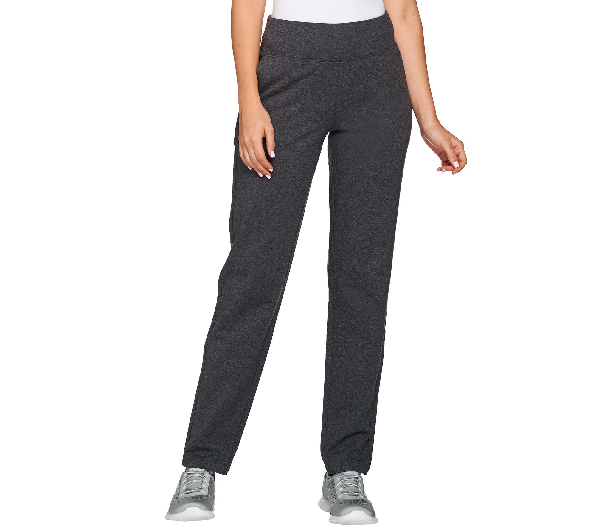 781a4daeb1a1 Active Regular French Terry Contour Waistband Pants - Page 1 — QVC.com