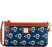 Dooney & Bourke NFL Rams Large Slim Wristlet - A285799