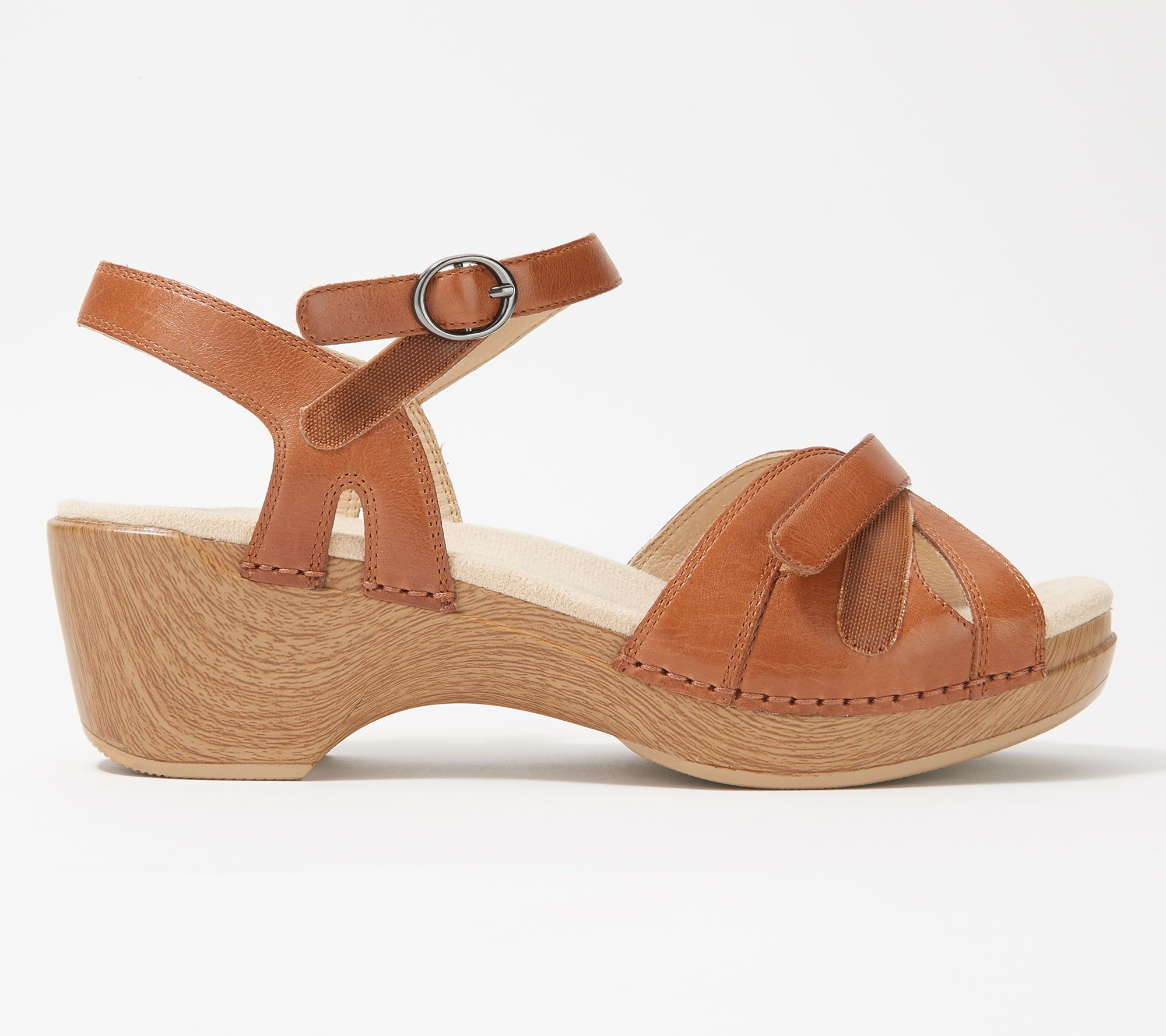 71dfbca65a0b Dansko Leather Adjustable Sandals - Season - Page 1 — QVC.com