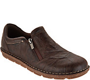 Clarks Leather Slip on Shoes with Side Zip- Tamitha Cattura - A295299