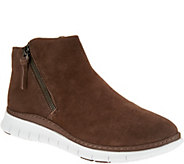 Vionic Suede Zip-Up Slip-On Shoes - Dylan - A298099