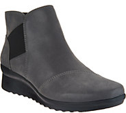 As Is CLOUDSTEPPERS by Clarks Wedge Ankle Boots- Caddell Tropic - A307899