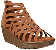 As Is Skechers Peep- Toe Caged Wedges- Dream Queen - A345499